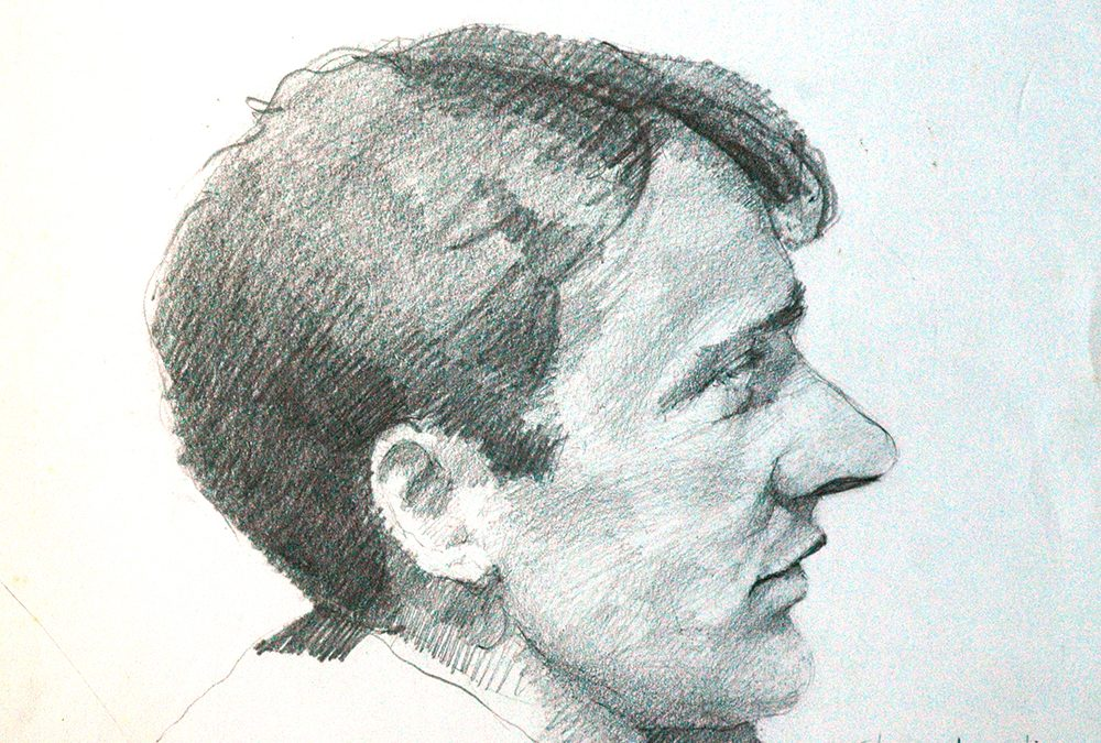 A portrait sketch in pencil